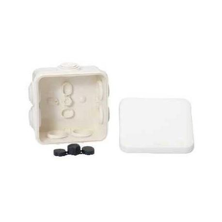 boite d rivation tanche 80x80x45 blanc a embouts 7 entr es. Black Bedroom Furniture Sets. Home Design Ideas