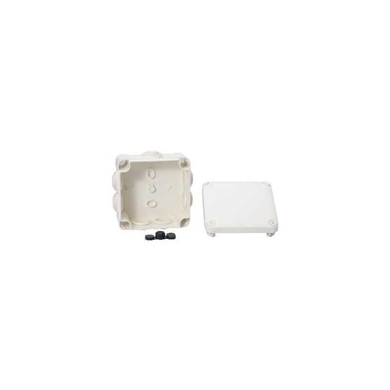 boite d rivation tanche 105x105x55 blanc a embouts 7. Black Bedroom Furniture Sets. Home Design Ideas