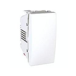Poussoir a Ouverture 10 A Connexion Rapide 1 Module - Blanc Schneider Unica
