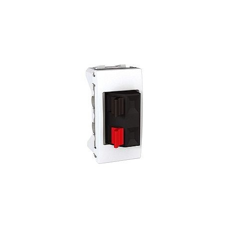 prise haut parleur 1 module blanc schneider unica mgu3. Black Bedroom Furniture Sets. Home Design Ideas