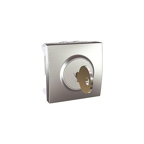 interrupteur cl 2 positions 10 a 2 modules aluminium. Black Bedroom Furniture Sets. Home Design Ideas