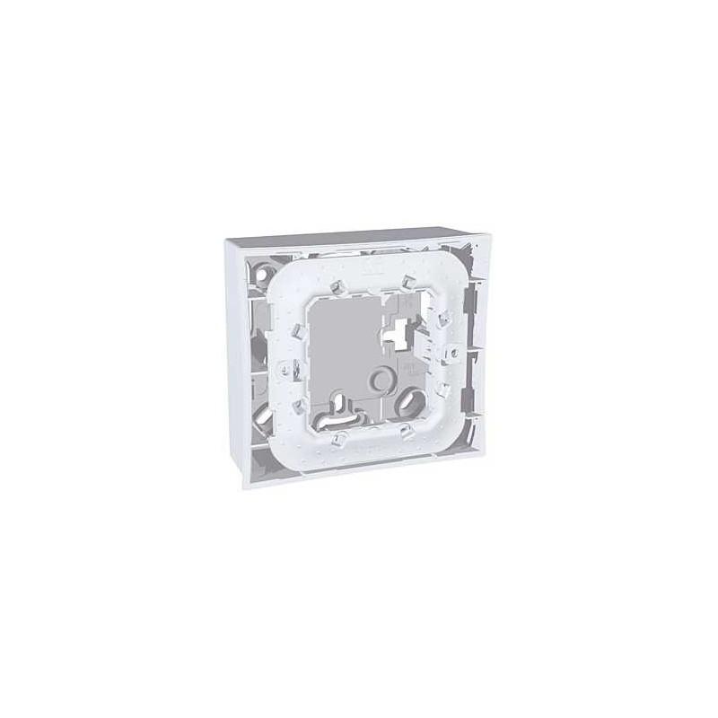 boite pour montage en saillie 1 poste 2 modules gris schneider. Black Bedroom Furniture Sets. Home Design Ideas