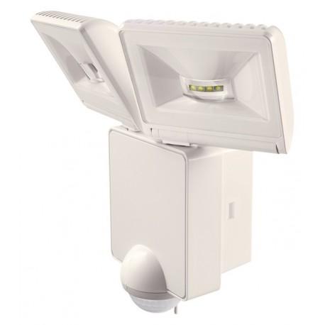 2 spots orientable led de chaque 8 w blanc 90 exterieur luxa. Black Bedroom Furniture Sets. Home Design Ideas
