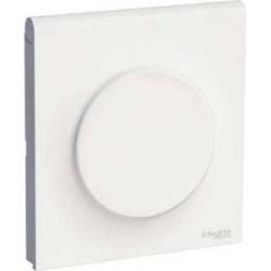 Plaque Blanc 1 Poste avec couvercle intégré pour prise Schneider Odace Styl Pratic