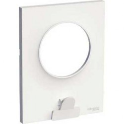Plaque Blanc 1 Poste avec pince multi-usage Schneider Odace Styl Pratic