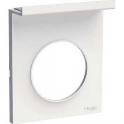 Plaque Blanc 1 Poste Support Telephone mobile Schneider Odace Styl Pratic
