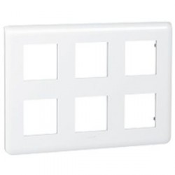 Plaque 2x3x2 modules Legrand Mosaic - blanc