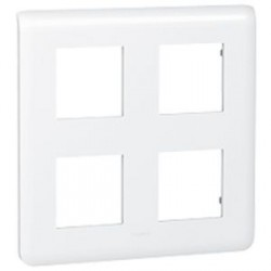 Plaque 2x2x2 modules Legrand Mosaic - blanc