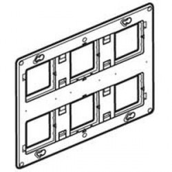 Support grand format Batibox Legrand pour Mosaic - 2 x 3 postes - 2 x 6/8 modules