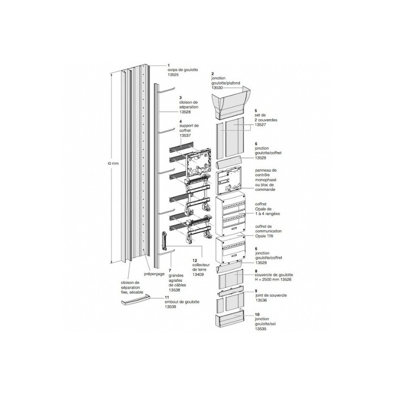 kit 6 supports de coffret schneider pour goulotte gtl 13537. Black Bedroom Furniture Sets. Home Design Ideas