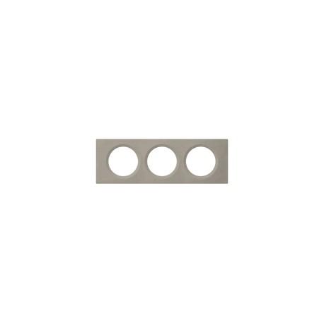 plaque matiere 3 postes beton cire legrand 069143. Black Bedroom Furniture Sets. Home Design Ideas