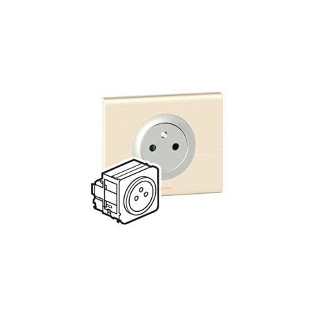 legrand celiane prise 2p t pc affleurente titane 67111 068411. Black Bedroom Furniture Sets. Home Design Ideas
