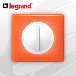 interrupteur Va-et-vient doigt Etroit Slim complet Legrand Celiane 70's Orange