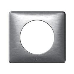 Plaque aluminium Legrand celiane 1 poste avec support a vis