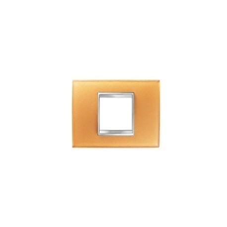 gewiss plaque lux rectangulaire verre ocre 2m gw16202co. Black Bedroom Furniture Sets. Home Design Ideas