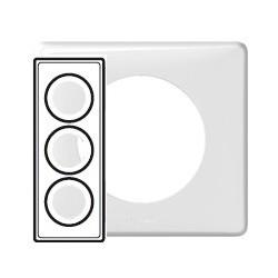 Plaque blanc 3 postes Legrand celiane entraxe 57mm