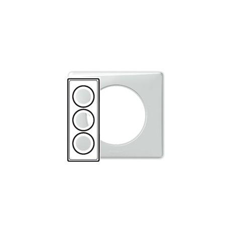 legrand celiane plaque banquise 3 postes entraxe 57mm support a vis. Black Bedroom Furniture Sets. Home Design Ideas