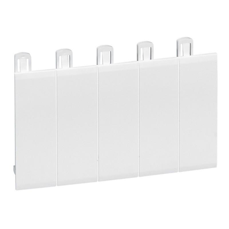 obturateur 5 modules blanc ral 9010 legrand 001660. Black Bedroom Furniture Sets. Home Design Ideas