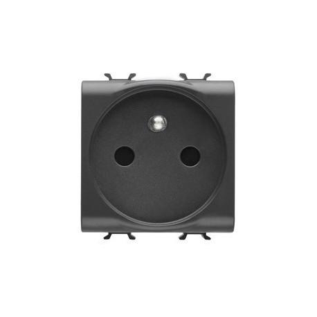 gewiss prise 2m 2 p t 16a cablage rapide noir gw12247f. Black Bedroom Furniture Sets. Home Design Ideas