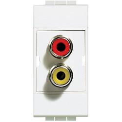 double connecteur type rca livinglight blanc 1 module