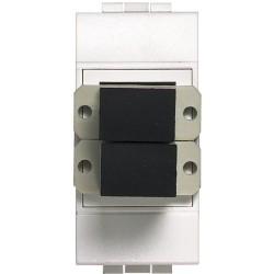 connecteur fibre optique sc livinglight blanc 1 module