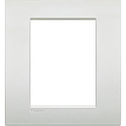 plaque livinglight air neutre 3 3 modules perle blanche