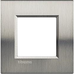 plaque livinglight naturalia 2 modules acier brosse