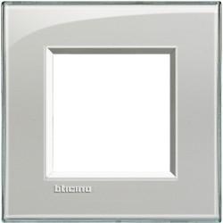 plaque livinglight kristall 2 modules gris