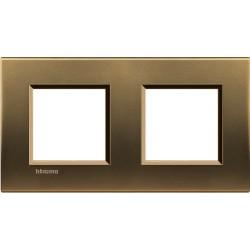 plaque bronze livinglight 2 2 modules
