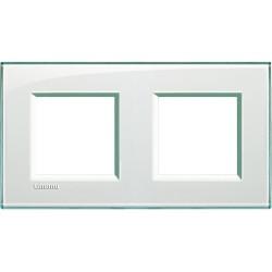 plaque livinglight kristall 2 2 modules entraxe 71 mm aigue marine