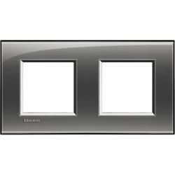 plaque livinglight kristall 2 2 modules entraxe 71 mm brouillard