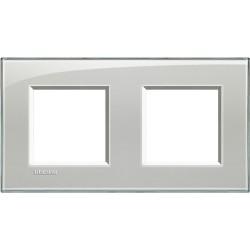 plaque livinglight kristall 2 2 modules entraxe 71 mm gris