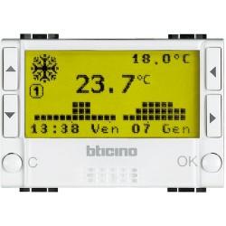 chrono thermostat encastre livinglight blanc