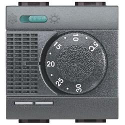 thermostat electronique d ambiance commutateur ete hiver livinglight anthracite