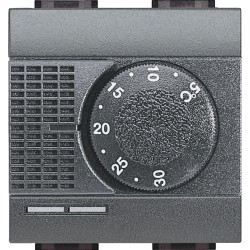 thermostat electronique d ambiance livinglight anthracite