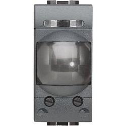 interrupteur automatique infrarouge 1 module livinglight anthracite
