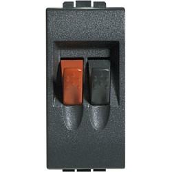 connecteurs audio video pour haut parleur livinglight anthracite 1 module