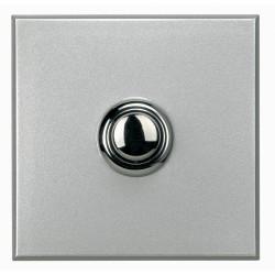 poussoir bouton rond axolute 16ax 250v connexion auto alu 2 modules