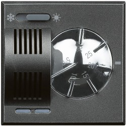 thermostat d ambiance 2a 230v 2 modules axolute anthracite