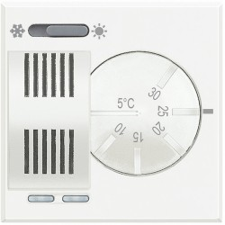 thermostat d ambiance ete hiver 2a 230v 2 modules axolute white