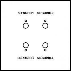 Commande 4 scénarios Art d'Arnould Epure MyHOME BUS - blanc satin