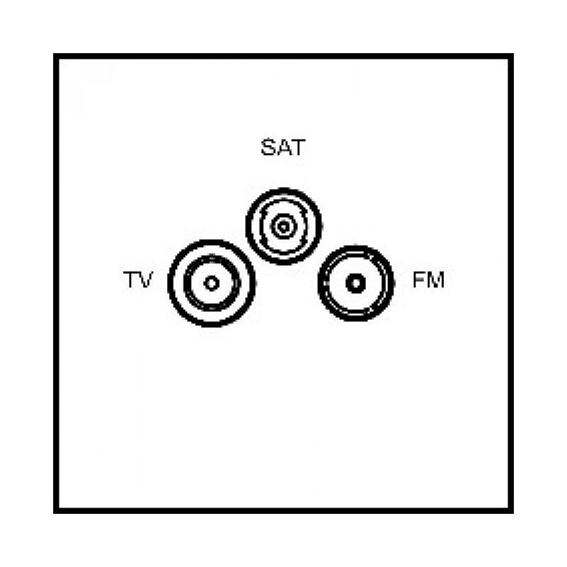art d 39 arnould epure prise tv fm sat blanc satin. Black Bedroom Furniture Sets. Home Design Ideas