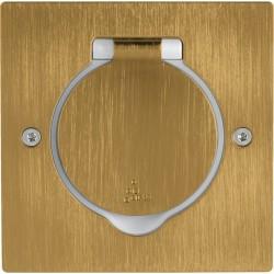 Platinum - Platine rectangulaire simple poste à équiper - IP44/IK08 - bronze
