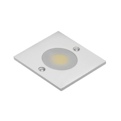 spot led cob carre blanc chaud 1 diode led cob 3w 280lm 60x60x5. Black Bedroom Furniture Sets. Home Design Ideas