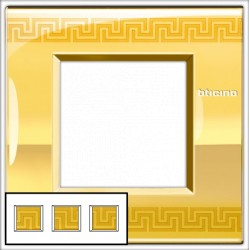 Plaque Livinglight Air Décor 2+2+2 modules entraxe 71 mm - Grec
