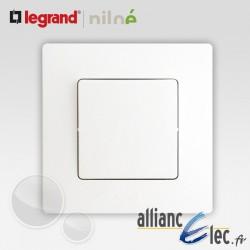 Interrupteur ou va et vient Legrand Niloe Pur Blanc