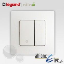 Interrupteur variateur 400W 2 fils Legrand Niloe Pur Blanc