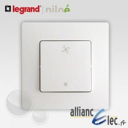 Interrupteur VMC 2 positions Legrand Niloe Pur Blanc
