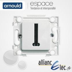 Prise Téléphone 8 plots Blanc Arnould Espace Lumière