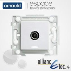 Prise TV simple male Blanc Arnould Espace Lumière